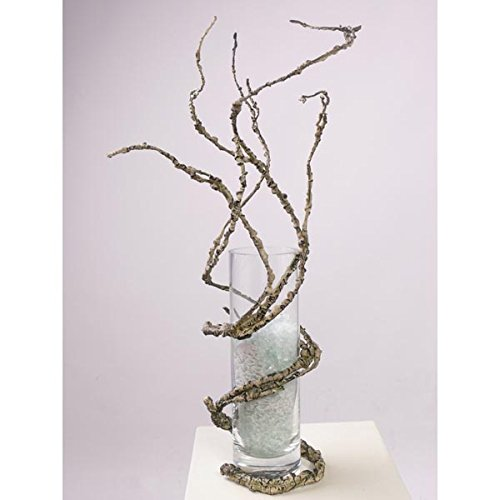Ramo artificiale a cavatappi, marrone chiaro, 110 cm - Ramo decorativo / Ramo contorto - artplants