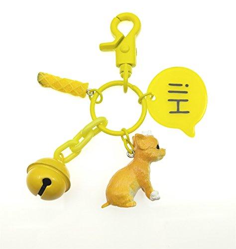 TOSPANIA Adorable Dog Keychain for Car Key Handbag Tote Bag Pendant (Chihuahua) ()