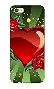 Defender Case For Iphone 6 Plus, Roses And A Heat Pattern, Nice Case For Lover's Gift