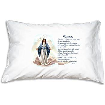 Amazon Com Prayer Pillowcase Blessed Mother Hail Mary
