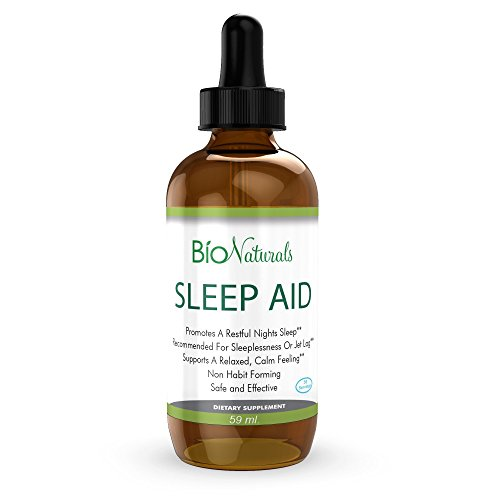 Melatonin Liquid Sleep Aid Drops  100% Natural Sleeping Supplement with Inositol, B6 & L-Theanine Reduces Stress & Anxiety  Potent Sublingual Formula Faster Than Pills, Non-Habit Forming  2 fl oz