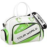本間ゴルフ ボストンバッグ TOUR WORLD メンズ ボストンバッグ ホワイト/フレッシュグリーン BB-1712