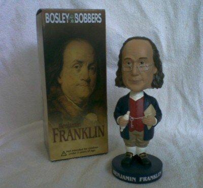 Benjamin Franklin Bosley Bobber Bobblehead