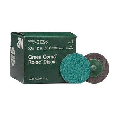 Green Corps™ Roloc™ Discs - 3m 051131- 01396 greenrolox disc 50 grit [Set of 10]