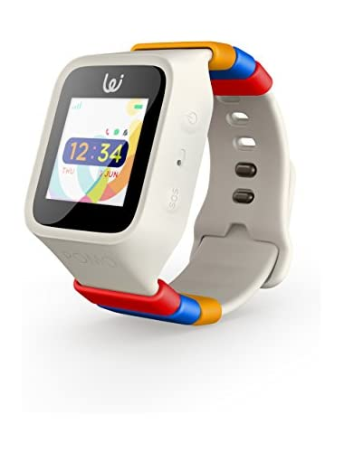 iGPS Wizard Smart Watch for Kids with Three SIM Card Live GPS Tracking Cellular Voice Text Water Resistant SOS  Danger Zone Device Removal Alerts LED Touch Screen Display  White