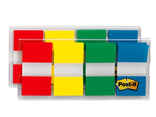 Post-it Flags, Assorted Primary Colors, .94 in. Wide, 80/On-the-Go Dispenser, 2 Dispensers/Pack, (680-RYGB2)