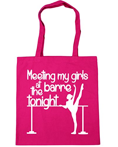 HippoWarehouse reunión mi las niñas en la Barre esta noche bolsa de la compra bolsa de playa 42cm x38cm, 10litros fucsia
