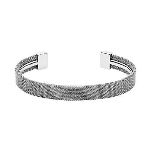 Skagen Women's Merete Silver-Tone Brilliant Mesh Bangle Bracelet, One - Skagen Bracelet Silver