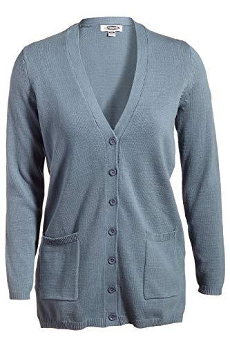 Edwards Ladies' V-Neck Long Cardigan Sweater 3XL Slate Blue