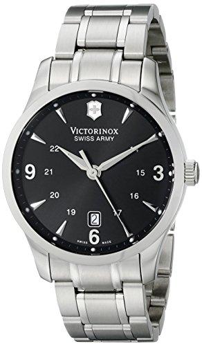 Alliance Swiss - Victorinox Men's 241473 Alliance Analog Display Swiss Quartz Silver Watch