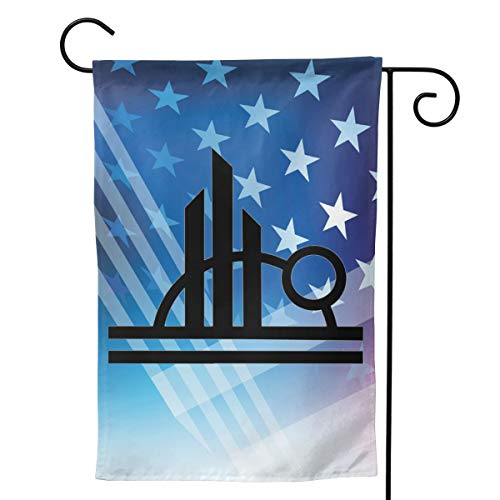 A16HYQ Garden Flags Notre-Dame Cathedral Spire Welcome Large Yard Double Sided House Flag Banners for Patio Lawn Home Outdoor Decor 12.5x18In 28x40In