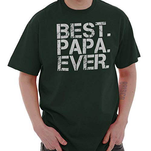 Best Papa Ever Worlds Best Dad Fathers Day T Shirt Tee Forest Green