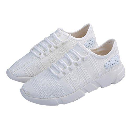 Styledress Sneaker Herrenschuhe Schuhe Flache Sport Sneaker Unisex Turnschuhe Sportschuhe Sneaker Laufende Weiß Schuhe Mesh Schuhe Herren Beatifable 448dqr