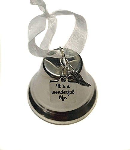 Pewter Christmas Bells Ornament (
