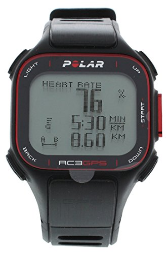 Polar RC3 GPS Fitness Watch and Activity Tracker with Heart Rate Monitor Black by Polar