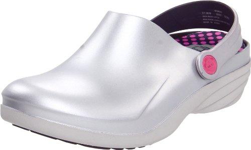 Timberland PRO Women's Renova Caregiver Shoe,Silver/Purple,5.5 M US