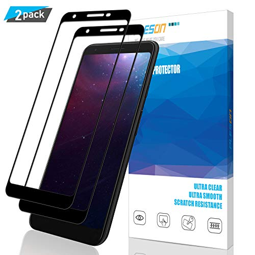 Pleson Google Pixel 3a XL Screen Protector [Secondary Reinforcement] [Lifetime Replacement] [2 Pack] Full Coverage [Case Friendly], Bubble Free/HD Tempered Glass Screen Protector for Pixel 3a XL