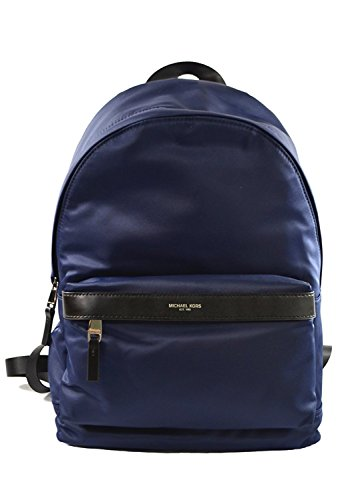 Michael Kors Kent Nylon Backpack For Work School Office Travel (Indigo) (Light Blue Michael Kors Handbags)