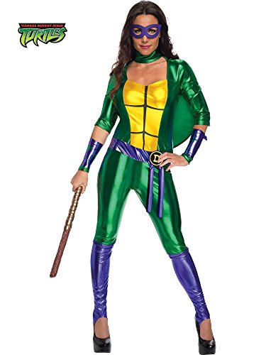 Secret Wishes Women's Teenage Mutant Ninja Turtles Donatello Costume Jumpsuit, Multi, X-Small -
