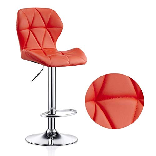Simple Adiustable Bar Chair with 360 ° Free Rotation Modern for Home Chair for Swivel Bar Durable Chair for Home Durable and Retro Backrest (Color: Pink, Size: 94-114 cm) (Color : Orange)