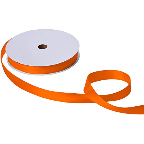 Jillson & Roberts Double-Faced Satin Ribbon, 1'' Wide x 100 Yards, Orange by Jillson Roberts