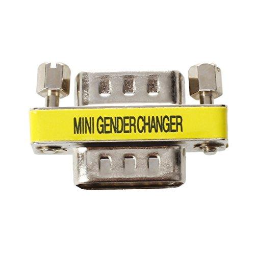 SODIAL 15-Pin HD15 VGA/SVGA M-M Mini Gender Changer ()