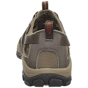 KEEN Men's Owyhee Sandal,Slate Black/Rust,10.5 M US