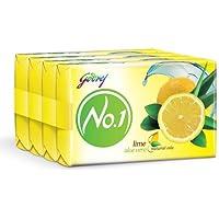 Godrej No.1 Lime and Aloe Vera Soap, 150g (Buy 3 Get 1 Free)