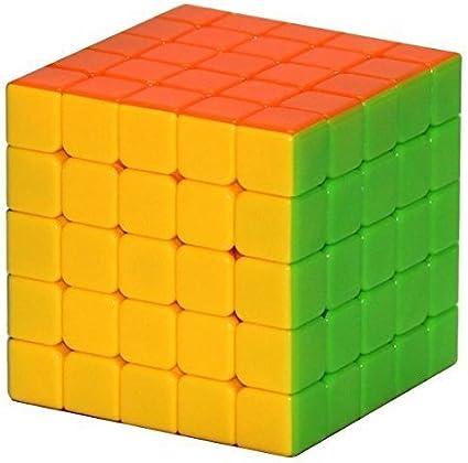 Mayatras Completely Stickerless 5X5X5 Wind Speed Rubik Cube Puzzle (Train Your Brain)