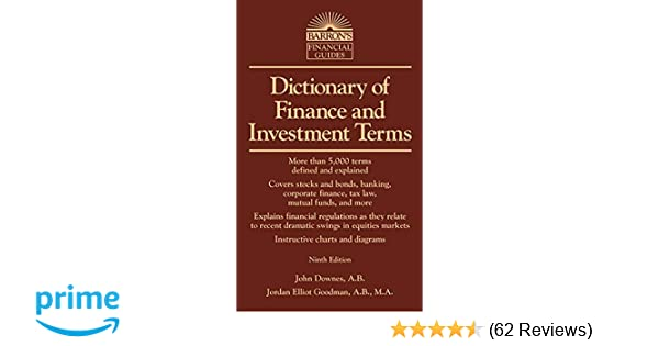 Dictionary Of Finance And Investment Terms Barrons Business
