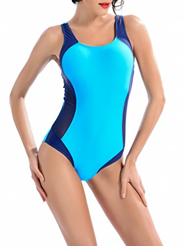 Uhnice Womens Athletic One Piece Swimsuits Racing Training Sports Bathing Suit