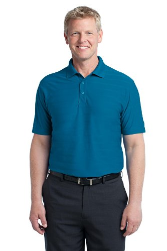 Port Authority Men's Horizontal Texture Polo XXL Peacock Blue