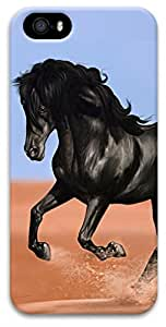 iPhone 5 iPhone 5s 3D Case,Animal-Horse Case for iPhone 5/5s