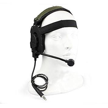 Al aire libre táctico de Airsoft Bowman Evo III de doble cara auricular con micrófono micrófono Worldshopping4U, negro