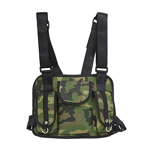 Chest Rig, Heavy Duty Tactical Radio Chest Harness, Radio Chest Rig Bag, Universal Hands Free Radio Chest Harness, Molle Vest Rig Holster, Survival Gear for - Response Holster Emergency
