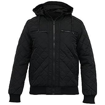 Jacke Winter Schwarz Diamant Herren Mantel Mantel Jacke