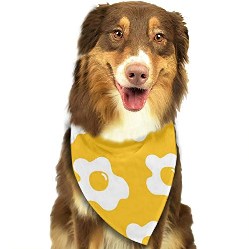 Dog Bandana Triangle Scarfs Puppy Bibs Accessories, Egg Fried Yellow, for Dogs, Cats, Pet Birthday Party Gifts ()
