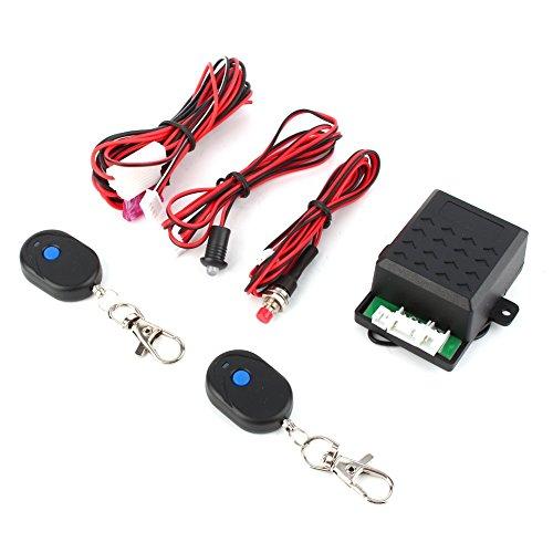 2 Door Remote Protection Keyless Entry Central Lock Locking Kit + Car Alarm - 3