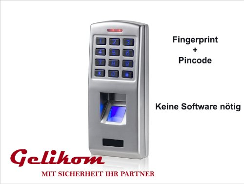 Biometrisches Fingerprint & Code Türschloss Türöffner Zutrittskontrollsystem