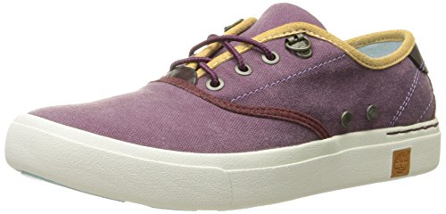 Timberland Women's Amherst Oxford, Grape Wine Canvas, 8.5 M US (Timberland Sneakers Women)