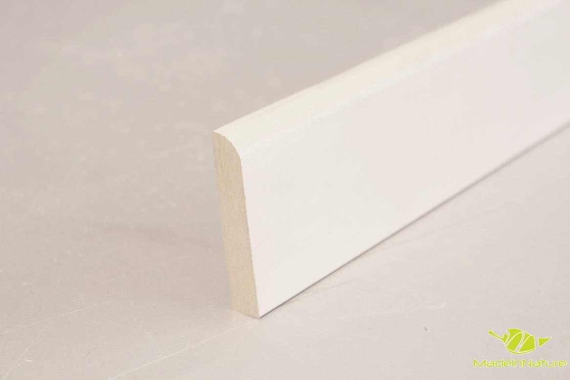diff/érentes dimensions et finitions Plinthe en m/édium pr/épeinte blanche de tr/ès grande qualit/é Hauteur 10cm finition carr/é, 20 ml fabrication FRANCAISE