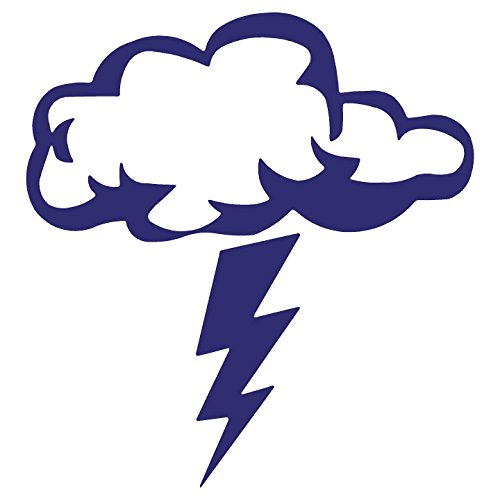 Storm Cloud Lightning Bolt Decal Sticker (5