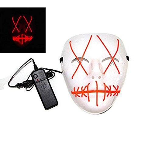 AAA Purge Halloween Led Light up Costumes Glow Stick Party City Mask for Parties Festival Costume -
