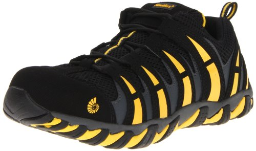 Composite Toe Metal (Nautilus 1925 Comp Toe No Exposed Metal EH Athletic Shoe,Black/Yellow,13 W US)