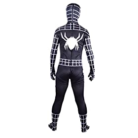 - 41lC5kwBpcL - Wraith of East Black Superhero Boys Halloween Costume Cosplay Full Bodysuit Zentai