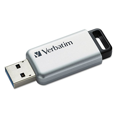 Verbatim 16GB Store'n' Go Secure Pro USB 3.0 Flash Drive with AES 256 Hardware Encryption,  Silver - Store Secure