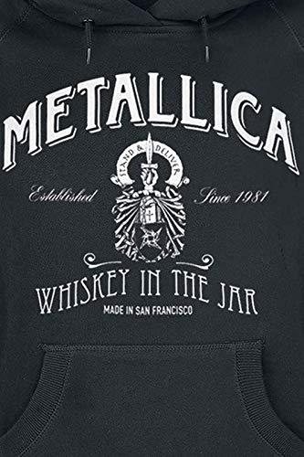 Metallica Whiskey In The Jar Sudadera con Capucha Negro: Amazon.es: Ropa y accesorios