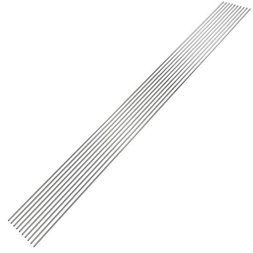 KKmoon 10PCS Low Temperature Aluminum Welding Wire Flux Cored 2mm500mm Al-Mg Soldering Rod No Need Solder Powder