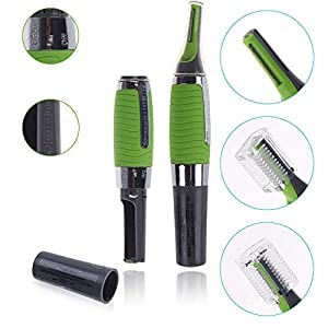 Keton All-in-One Mini Personal Hair Remover Trimmer for Ear/Nose/Neck/Eyebrow with Built-in LED Light