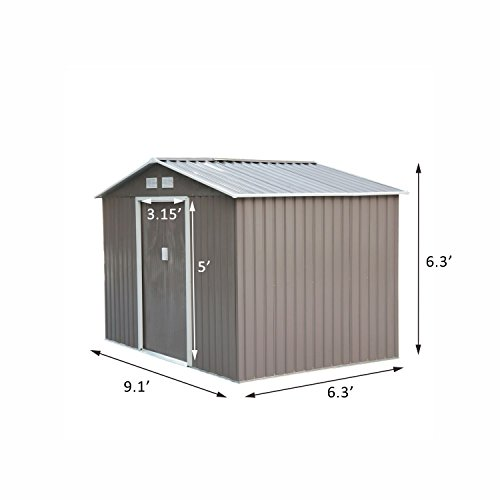 Review 9'X6′ Storage Shed Outdoor